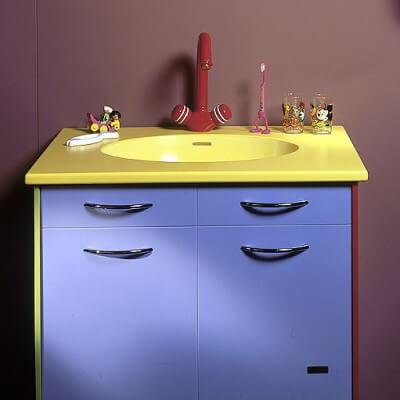 Corian vanity unit
