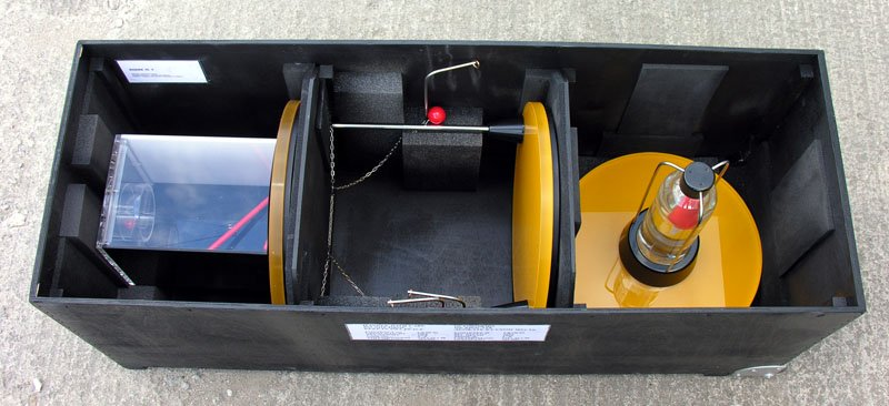 Example of  the inside of one of our Standard Flight Cases for you interactives